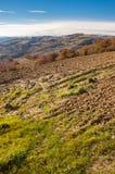outono no monte do ` s de Marche na região de Montefeltro fotos de stock