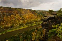 outono no vale de Elbe Imagem de Stock Royalty Free