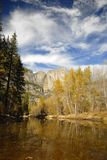 Outono no vale de Yosemite Fotos de Stock Royalty Free