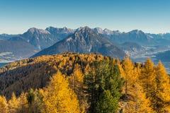Outono nos alpes Fotografia de Stock