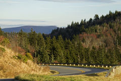 Outono, Parkway azul de Ridge fotografia de stock