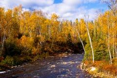 Outono, rio da moderação imagem de stock