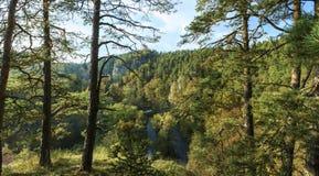 Outono River Valley Imagens de Stock Royalty Free