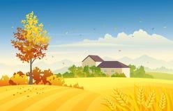 Outono rural ilustração royalty free