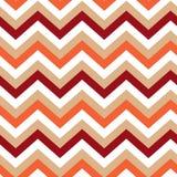 outono sem emenda do teste padrão da cor do creme de Borgonha do vermelho alaranjado de Chevron Fotografia de Stock