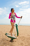 Outoor fitness machine royalty free stock images