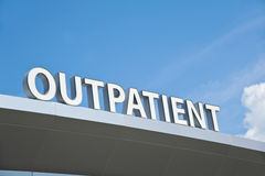 Outpatient Sign. Hospital Outpatient Surgery Center Sign Royalty Free Stock Photography