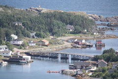 Outport Newfoundland Royaltyfria Foton
