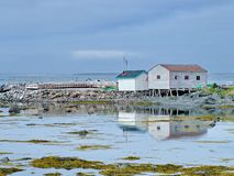 Outport Village in Newfoundland. Canada royalty free stock image