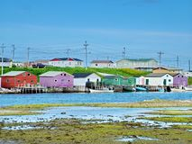 Outport Village in Newfoundland. Canada stock photo
