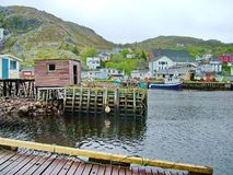 Outport Village in Newfoundland. Canada stock image