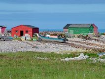 Outport Village in Newfoundland. Canada stock images