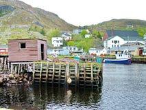 Outport Village in Newfoundland. Canada stock photos