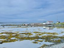 Outport Village in Newfoundland. Canada royalty free stock photography