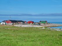 Outport Village in Newfoundland. Canada royalty free stock photo
