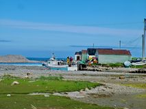 Outport Village in Newfoundland. Canada royalty free stock photos