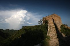 Outpost On The Great Wall Of China Stock Image