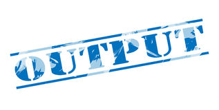 Output blue stamp Royalty Free Stock Photo