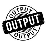 Output rubber stamp Royalty Free Stock Image