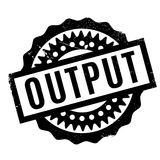 Output rubber stamp Royalty Free Stock Photo