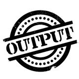 Output rubber stamp Stock Photos