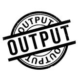 Output rubber stamp Royalty Free Stock Images