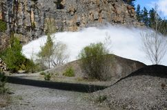 Output water in the mountain. Spain lanscape Royalty Free Stock Images