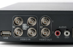 Outputs of DVR recorder Royalty Free Stock Image