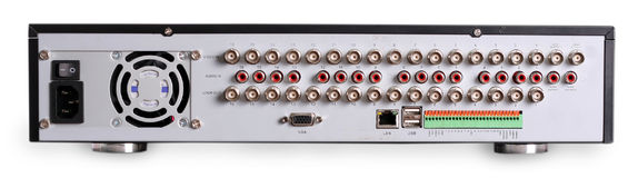 Outputs of DVR recorder. Outputs of Digital Video Recorder Royalty Free Stock Photo