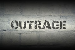 Outrage WORD GR Royalty Free Stock Photo