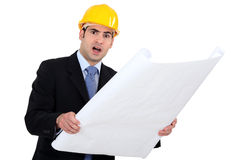 Outraged engineer Stock Photo