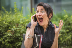Outraged mature businesswoman Stock Image