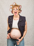 Outraged Pregnant Woman Stock Photography