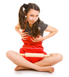 Outrageous housewife Stock Photos