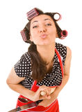 Outrageous housewife Stock Photography