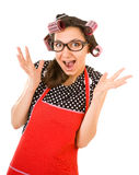 Outrageous housewife Stock Images