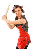 Outrageous housewife Stock Image