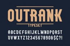 Outrank den moderiktiga designen för tappningskärmstilsorten, alfabetet, stilsort stock illustrationer
