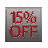 15% outre de l'illustration d'offre de remise illustration stock
