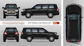 Outre de la maquette de vecteur de voiture de route Photo libre de droits
