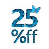 25% outre de la remise Le concept du ressort ou de la vente de sammer, affiche élégante, bannière, promotion, annonces illustration stock