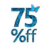 75% outre de la remise Le concept du ressort ou de la vente de sammer, affiche élégante, bannière, promotion, annonces Image stock