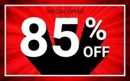 85% OUTRE de la vente Le texte blanc de la couleur 3D et l'ombre noire sur le fond d'éclat de rouge conçoivent illustration stock