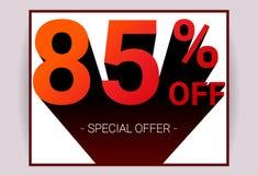 85% OUTRE de la vente Le texte de la couleur rouge 3D et l'ombre noire sur le fond blanc conçoivent illustration libre de droits