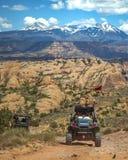 Outre de roading dans Moab Utah avec des amis Photographie stock libre de droits