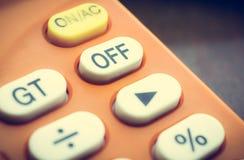 Outre du bouton sur la vieille calculatrice, Images libres de droits