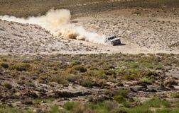 Outre du camion de route emballant le Nevada Images libres de droits
