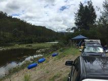 Outre du camping de route dans la région sauvage Photos libres de droits