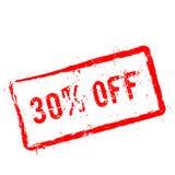 30% outre du tampon en caoutchouc rouge d'isolement sur le blanc illustration de vecteur