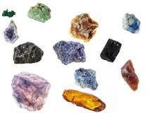 Outredda prövkopior av mineraler Arkivbild